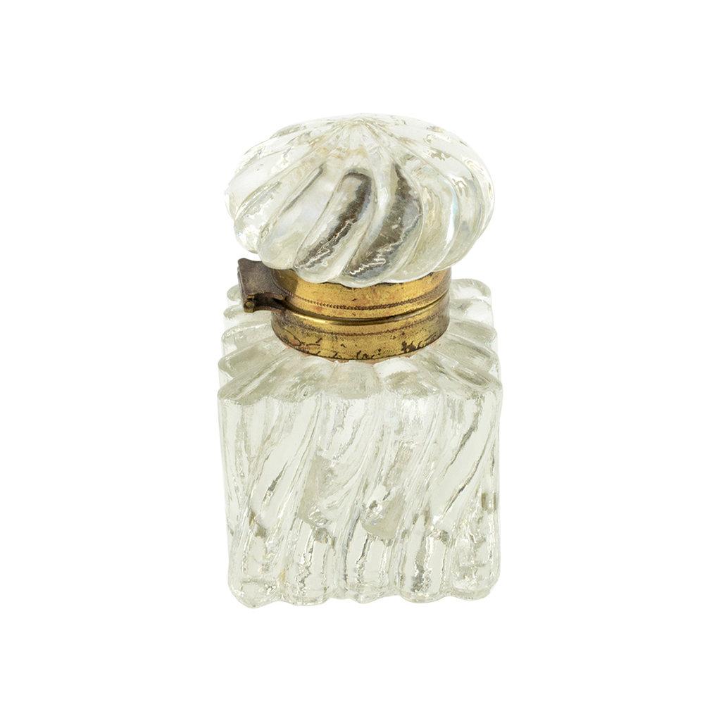 Vintage Ink Well Spiral Glass Top #5