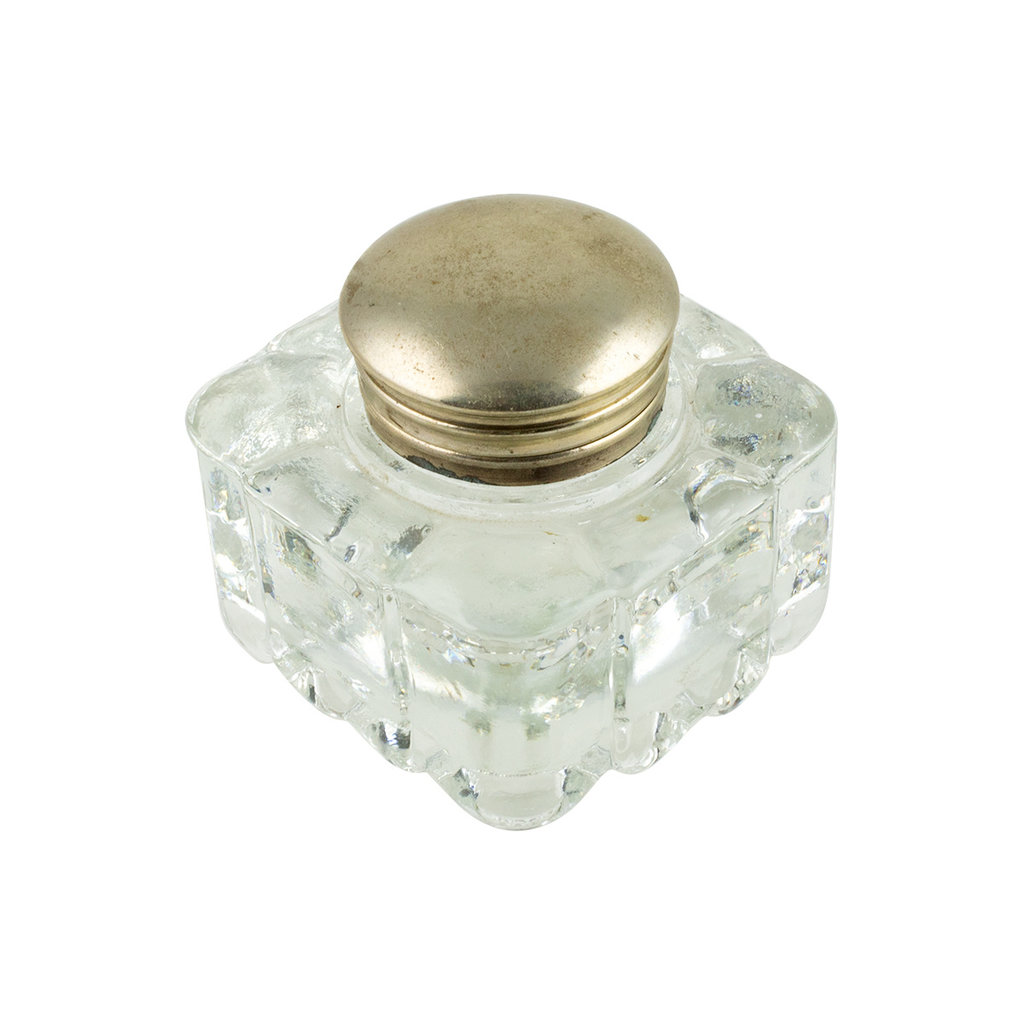 Vintage Ink Well Brass Top #4