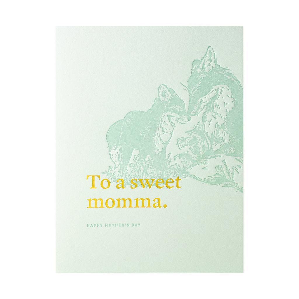 Woodsy Foxman To A Sweet Momma Letterpress Card