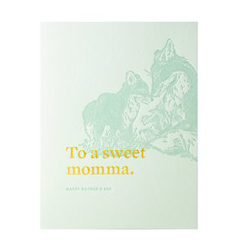 Woodsy Foxman To A Sweet Momma Letterpress Card
