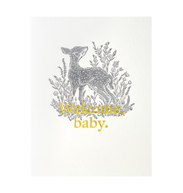 Woodsy Foxman Welcome Baby Letterpress Card