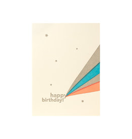 Lark Press Happy Birthday Rays Letterpress Card