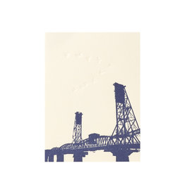 Lark Press Hawthorne Bridge Letterpress Card