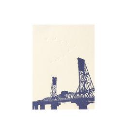 Lark Press Hawthorne Bridge Letterpress Card