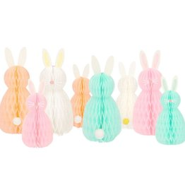 Meri Meri Honeycomb Spring Bunnies Decor - Set of 8