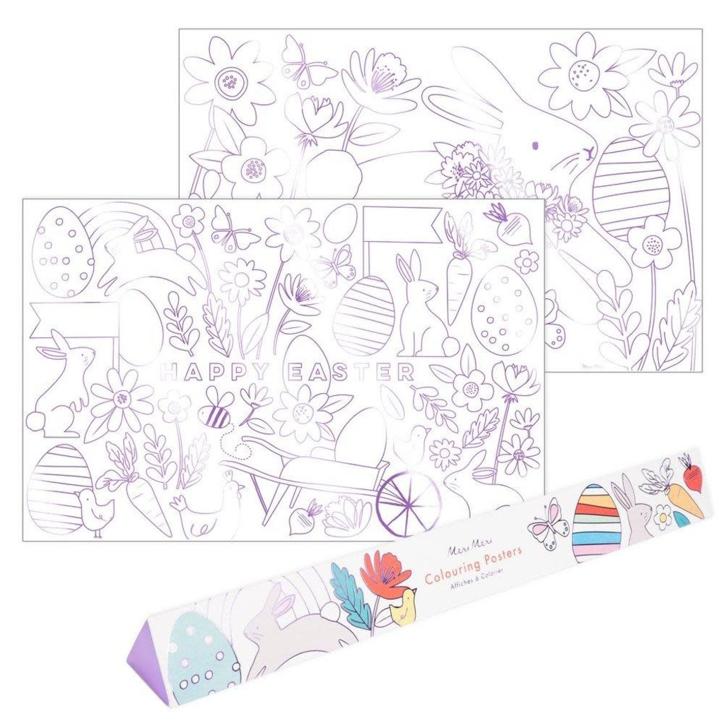 Easter Coloring Posters - 2 Pack