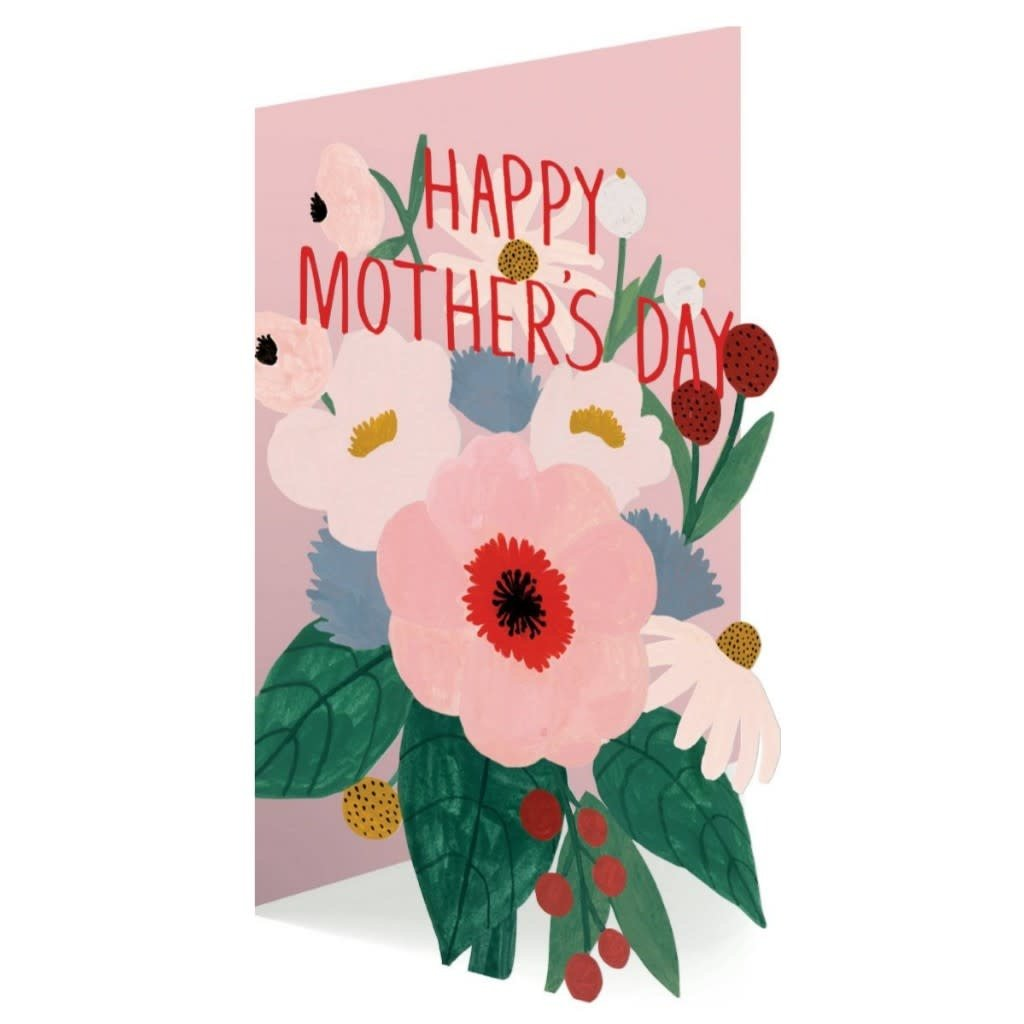 Mother's Day Bouquet Laser Card