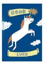 Good Luck Unicorn Greeting Card
