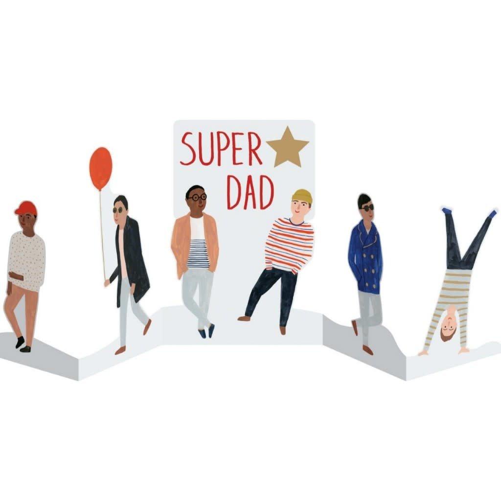 Super Star Dad Foiled Laser Card