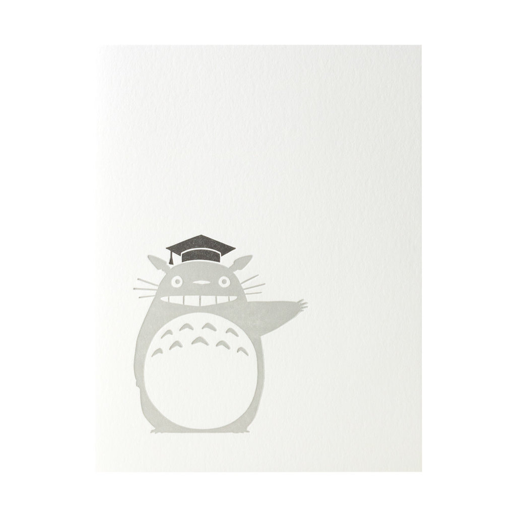 Green Bird Press Totoro Graduation Letterpress Card