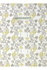 Egg Press Line Foliage Easter Letterpress Card