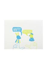 Egg Press Easter Finger Puppets Letterpress Card