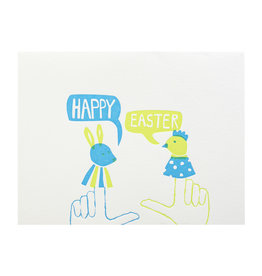 Egg Press Easter Finger Puppets Letterpress Card