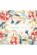 Maija Rebecca Hand Drawn Watercolor Thank You Greeting Card