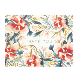 Maija Rebecca Hand Drawn Watercolor Thank You Greeting Card