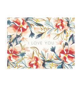 Maija Rebecca Hand Drawn Watercolor I Love You Greeting Card
