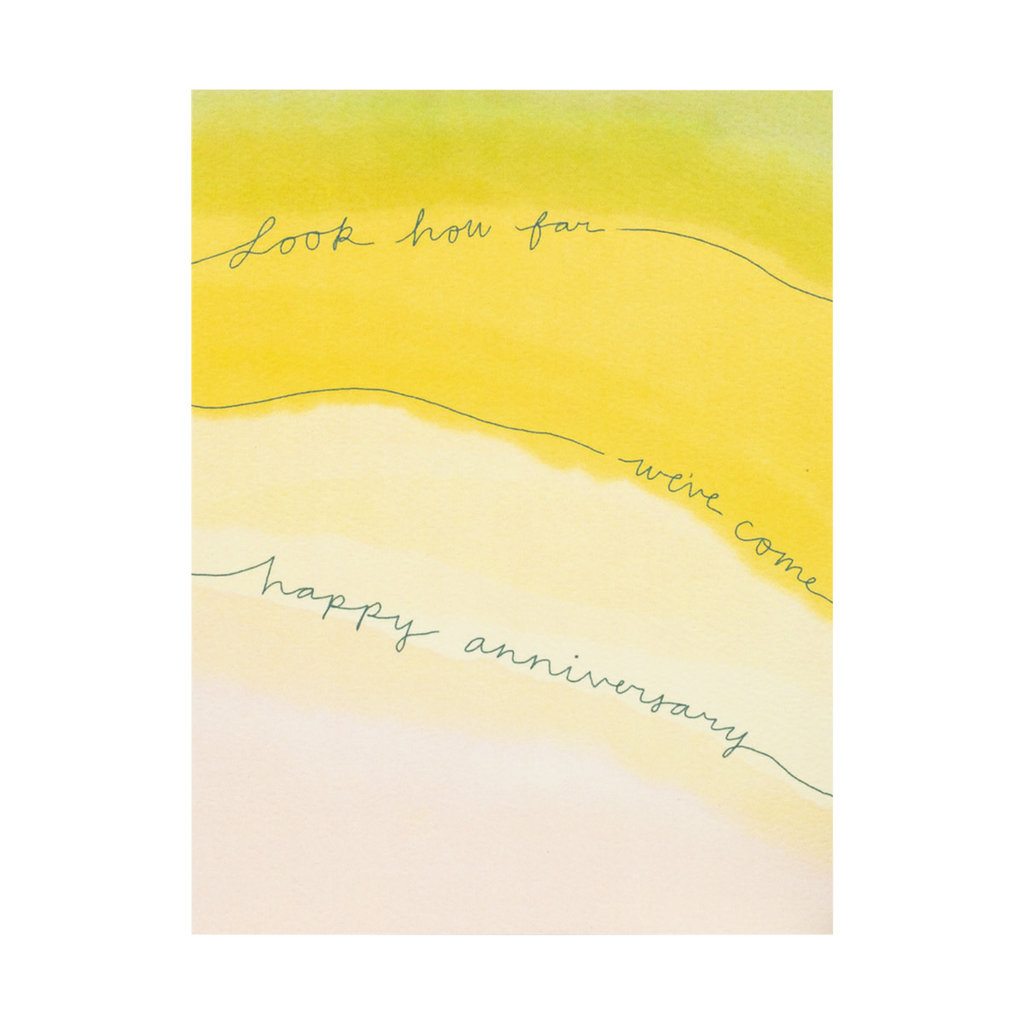 Maija Rebecca Hand Drawn Look How Far We've Come Greeting Card