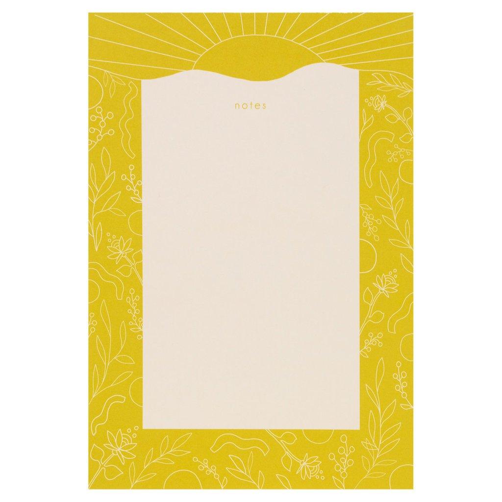 Maija Rebecca Hand Drawn Golden Sun Notepad