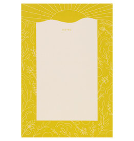 Maija Rebecca Hand Drawn Golden Sun Notepad