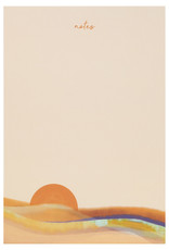 Maija Rebecca Hand Drawn Pink Sunset Notepad