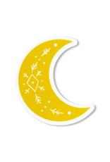 Maija Rebecca Hand Drawn Golden Solstice Moon Sticker