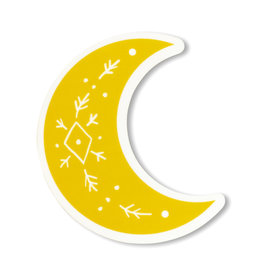 Maija Rebecca Hand Drawn Golden Solstice Moon Sticker