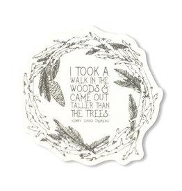 Maija Rebecca Hand Drawn Walk in the Woods Sticker