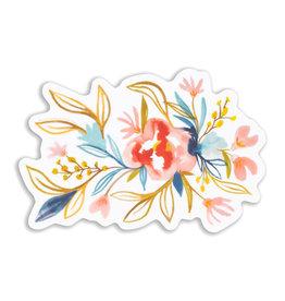 Maija Rebecca Hand Drawn Watercolor Floral Long Sticker