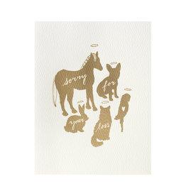 Gold Foil Pet Sympathy Card