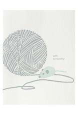 Smudge Ink Ball of Yarn Pet Sympathy Letterpress Card