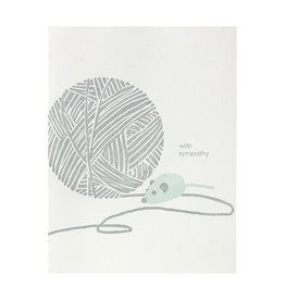 Smudge Ink Ball of Yarn Pet Sympathy Letterpress Card