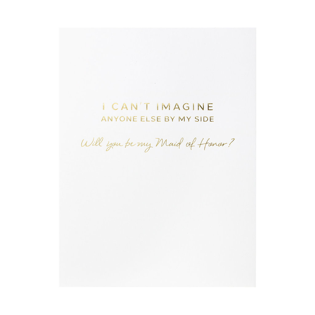 Wrinkle & Crease Will You Be My Maid of Honor? greeting card