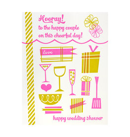 Paper Parasol Press Hooray Wedding Shower Letterpress Card