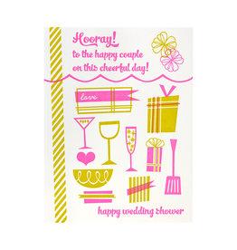 Paper Parasol Press Hooray Wedding Shower Letterpress Card