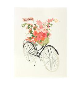 Bicycle Basket Thanks Greeting Card