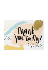 9th Letterpress Thank You Kindly Greeting Card