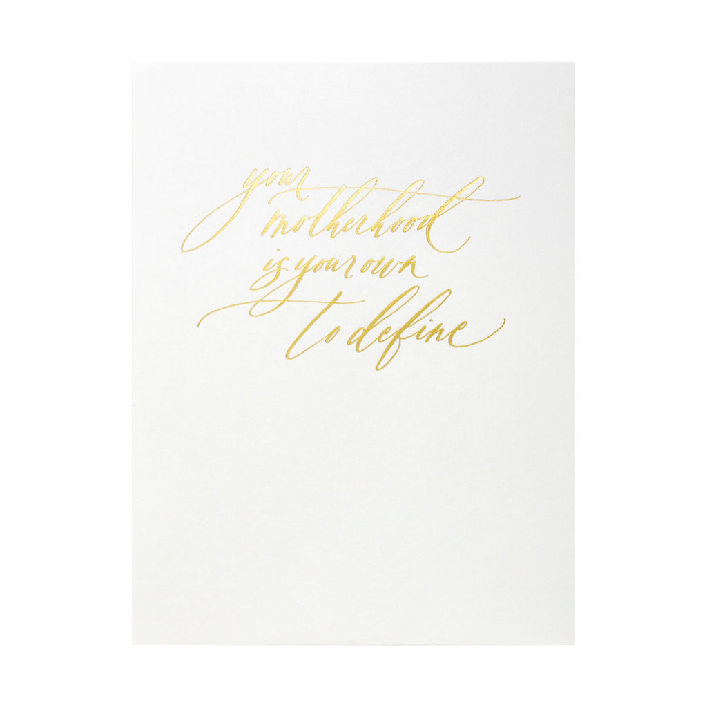 Little Well Paper Co. Motherhood Your Own Letterpress Card