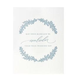 Little Well Paper Co. Marriage Even Lovelier Letterpress Card