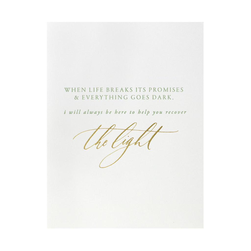 Little Well Paper Co. Recover the Light Letterpress Card