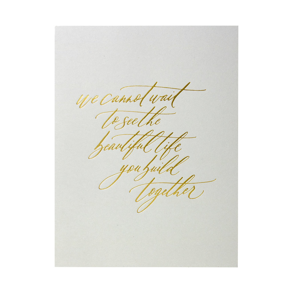 Little Well Paper Co. Beautiful Life Together Letterpress Card