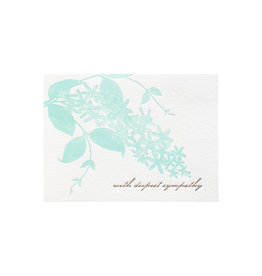 Ilee Papergoods Orchid Sympathy Letterpress Card