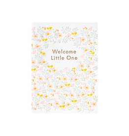 Ilee Papergoods Welcome Little One Letterpress Card