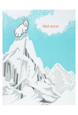 Ilee Papergoods Mountain Goat Well Done Letterpress Card