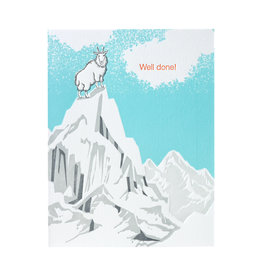 Ilee Papergoods Mountain Goat Well Done Letterpress Card