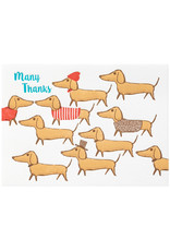Ilee Papergoods Dachshunds Many Thanks Letterpress Cards Box of 6