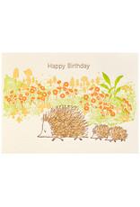 Ilee Papergoods Hedgehogs Birthday Letterpress Card