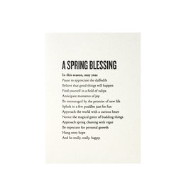 Constellation and Co. A Spring Blessing Paragraph Letterpress Card