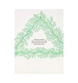 Constellation and Co. Keep Pedaling Encouragement Letterpress Card