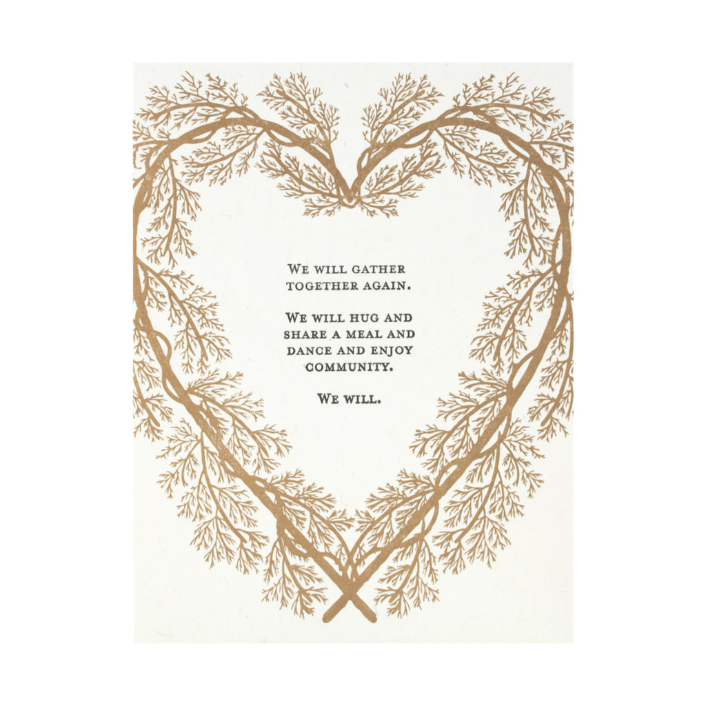Constellation and Co. We Will Gather Together Again Letterpress Card
