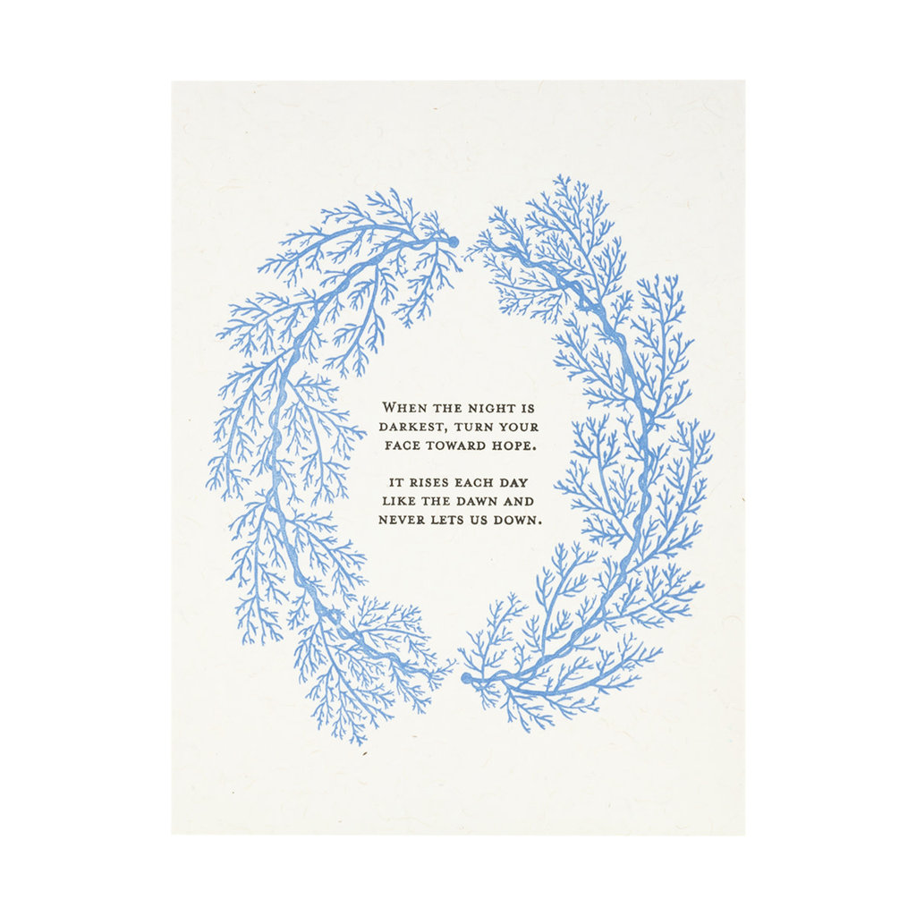 Constellation and Co. When the Night is Darkest, Turn Letterpress Card